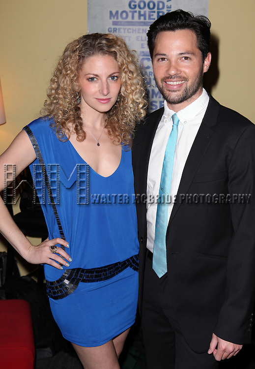 Lauren Molina and Jason Tam attend the opening night performance reception for the Keen Company production of Marry Me A Little at the Clurman Theatre in New York City on10/2/2012.