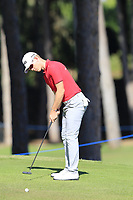 Brandon Stone (RSA) putts onto the 10th green during Thursday's Round 1 of the 2018 Turkish Airlines Open hosted by Regnum Carya Golf &amp; Spa Resort, Antalya, Turkey. 1st November 2018.<br /> Picture: Eoin Clarke | Golffile<br /> <br /> <br /> All photos usage must carry mandatory copyright credit (&copy; Golffile | Eoin Clarke)