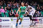 S&ouml;dert&auml;lje 2014-03-25 Basket SM-kvartsfinal 1 S&ouml;dert&auml;lje Kings - J&auml;mtland Basket :  <br /> S&ouml;dert&auml;lje Kings John Roberson i kamp om bollen med J&auml;mtlands Brandon Peterson <br /> (Foto: Kenta J&ouml;nsson) Nyckelord:  S&ouml;dert&auml;lje Kings SBBK J&auml;mtland Basket SM Kvartsfinal Kvart T&auml;ljehallen