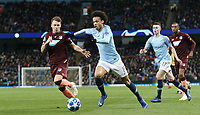 Manchester City's Leroy Sane under pressure from 1899 Hoffenheim's Pavel Kaderabek<br /> <br /> Photographer Rich Linley/CameraSport<br /> <br /> UEFA Champions League Group F - Manchester City v TSG 1899 Hoffenheim - Wednesday 12th December 2018 - The Etihad - Manchester<br />  <br /> World Copyright © 2018 CameraSport. All rights reserved. 43 Linden Ave. Countesthorpe. Leicester. England. LE8 5PG - Tel: +44 (0) 116 277 4147 - admin@camerasport.com - www.camerasport.com