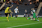 25/08/2015 Capital One Cup, Second Round Preston North End v Watford<br /> Fernando Forestieri shoots wide