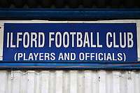 Ilford FC signage during Ilford vs Walthamstow, Essex Senior League Football at Cricklefields Stadium on 6th October 2018