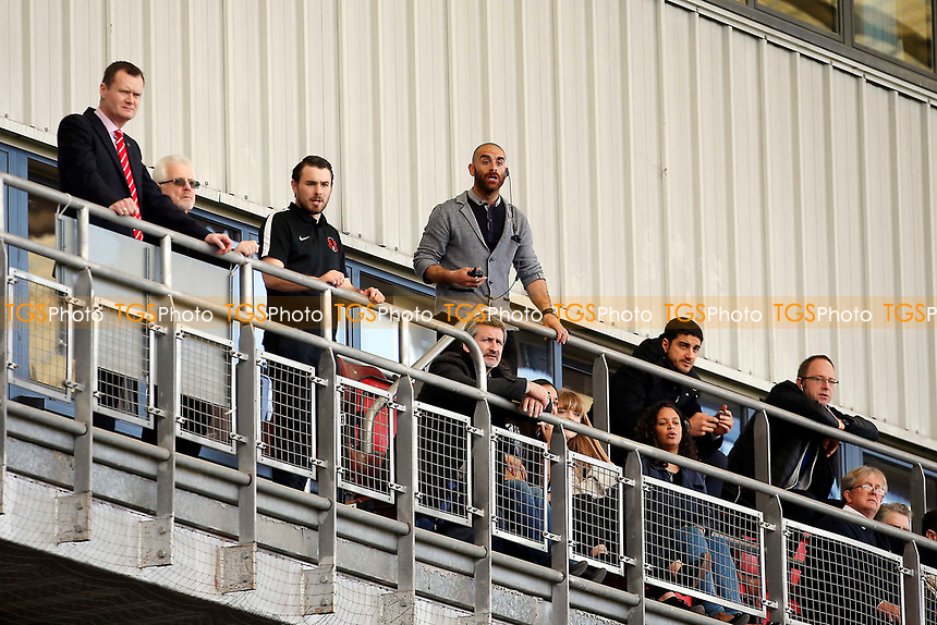 Omer Riza the new Orient manager who was sent of at Half Time,up on the balcony during Leyton Orient vs Wycombe Wanderers, Sky Bet EFL League 2 Football at the Matchroom Stadium on 1st April 2017