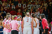STANFORD, CA - FEBRUARY 14:  (Not in order) Head coach Tara VanDerveer, associate head coach Amy Tucker, assistant coach Kate Paye, assistant coach Bobbie Kelsey, guard Melanie Murphy #0, guard Grace Mashore #1, forward Jayne Appel #2, forward Michelle Harrison #5, guard JJ Hones #10, forward Kayla Pedersen #14, guard Lindy La Rocque #15, guard Hannah Donaghe #20, guard Rosalyn Gold-Onwude #21, guard Jeanette Pohlen #23, forward Ashley Cimino #24, forward Nnemkadi Ogwumike #30, forward Morgan Clyburn #31, forward Jillian Harmon #33, and forward Sarah Boothe #42 of the Stanford Cardinal during Stanford's 58-41 win against the California Golden Bears on February 14, 2009 at Maples Pavilion in Stanford, California.