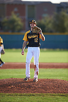 Tyler Wade (12) of Midland High School in Midland, Texas during the Baseball Factory All-America Pre-Season Tournament, powered by Under Armour, on January 14, 2018 at Sloan Park Complex in Mesa, Arizona.  (Zachary Lucy/Four Seam Images)