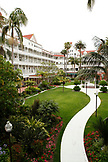 USA, California, San Diego, the courtyard at Hotel Del Coronado