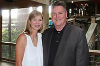 NWA Democrat-Gazette/CARIN SCHOPPMEYER Barbara and Baldwin attend the Wine Walk on May 31.