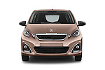 Car photography straight front view of a 2014 Peugeot 108 Allure 5 Door Micro Car 2WD Front View