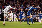 Real Madrid's Raphael Varane and Celta de Vigo's Iago Aspas during Copa del Rey match between Real Madrid and Celta de Vigo at Santiago Bernabeu Stadium in Madrid, Spain. January 18, 2017. (ALTERPHOTOS/BorjaB.Hojas)