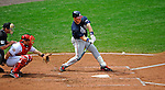 12 April 2008: Atlanta Braves' infielder Mark Teixeira in action against the Washington Nationals at Nationals Park, in Washington, DC. The Braves defeated the Nationals 10-2...Mandatory Photo Credit: Ed Wolfstein Photo