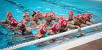 STANFORD, CA - April 20, 2019: Team at Avery Aquatic Center. The #1 Stanford Cardinal took down the #20 San Jose State Spartans 22-4.