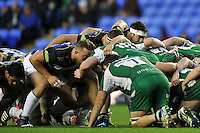 A general view of a scrum. Aviva Premiership match, between London Irish and Bath Rugby on November 7, 2015 at the Madejski Stadium in Reading, England. Photo by: Patrick Khachfe / Onside Images