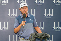David Lipsky (USA) lifts the trophy after the final round of the Alfred Dunhill Championship, Leopard Creek Golf Club, Malelane, South Africa. 16/12/2018<br /> Picture: Golffile | Tyrone Winfield<br /> <br /> <br /> All photo usage must carry mandatory copyright credit (&copy; Golffile | Tyrone Winfield)