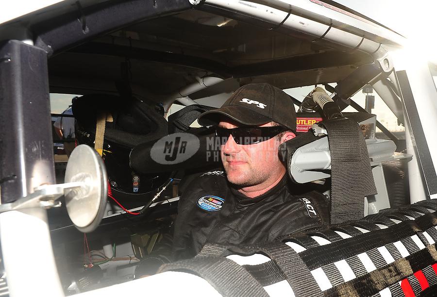 Feb 18, 2011; Daytona Beach, FL, USA; NASCAR Nationwide Series driver Scott Wimmer during qualifying for the DRIVE4COPD 300 at Daytona International Speedway. Mandatory Credit: Mark J. Rebilas-