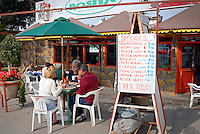 Rosita's Restaurant along the Malecón, the seafront avenue of the town of San Felipe, Baja California, Mexico.