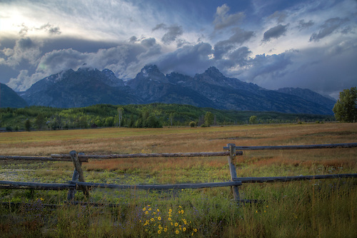 A thunderstorm passes through Grand Teton National Park, Wyoming