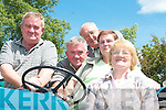 TRACTOR: At the Vintage Rally in Athea on Sunday were from left, Michael Brosnan, Castleisland, John Brosnan, Firies, John Burke, Killarney, Nancy Brosnan, Firies, and Mary Burke, Killarney..