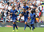 Chelsea's Marcos Alonso celebrates scoring his sides opening goal during the premier league match at the Wembley Stadium, London. Picture date 20th August 2017. Picture credit should read: David Klein/Sportimage