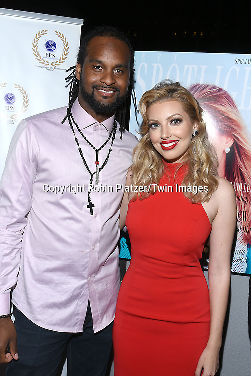 Noble Jolley and Dalal/ Dalal Bruchmann. Recording Artist,Composer and Actress attends the &quot;EPN Spotlight Magazine&quot;  launch party on June 10, 2016 at the Renaissance NY Hotel in New York, New York, USA. Dalal Bruchmann is the cover model.<br /> <br /> photo by Robin Platzer/Twin Images<br />  <br /> phone number 212-935-0770