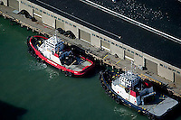 aerial photograph tractor tugs docked at pier San Francisco, California