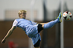 08 October 2013: North Carolina's Verneri Valimaa. The University of North Carolina Tar Heels hosted the Clemson University Tigers at Fetzer Field in Chapel Hill, NC in a 2013 NCAA Division I Men's Soccer match. Clemson won the game 2-1 in overtime.