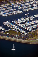 aerial photograph of Dana Point harbor, Orange County, California