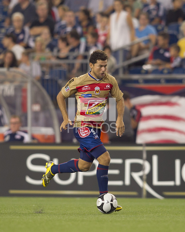 Monarcas Morelia forward Miguel Sabah (9). Monarcas Morelia defeated the New England Revolution, 2-1, in the SuperLiga 2010 Final at Gillette Stadium on September 1, 2010.