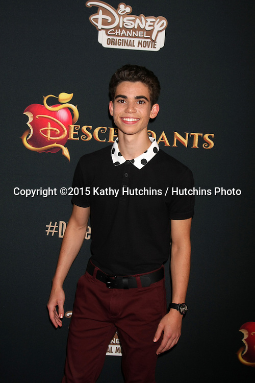 "LOS ANGELES - JUL 24:  Cameron Boyce at the ""Descendants"" Premiere Screening at the Walt Disney Studios on July 24, 2015 in Burbank, CA"