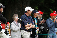 Peter Lawrie (IRL) on the 5th during the final day of the Omega European Masters, Crans-Sur-Sierre, Crans Montana, Switzerland.4/9/11.Picture: Golffile/Fran Caffrey..