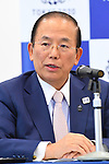 Toshiro Muto, <br /> APRIL 26, 2017 : <br /> Agreement concluded by the Organizing Committee <br /> of the Rugby World Cup 2019 and <br /> the Organizing Committee of Tokyo 2020 <br /> in Tokyo, Japan. <br /> (Photo by YUTAKA/AFLO SPORT)