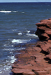 Sandstone formations, coast of Prince Edward Island Province, Canada