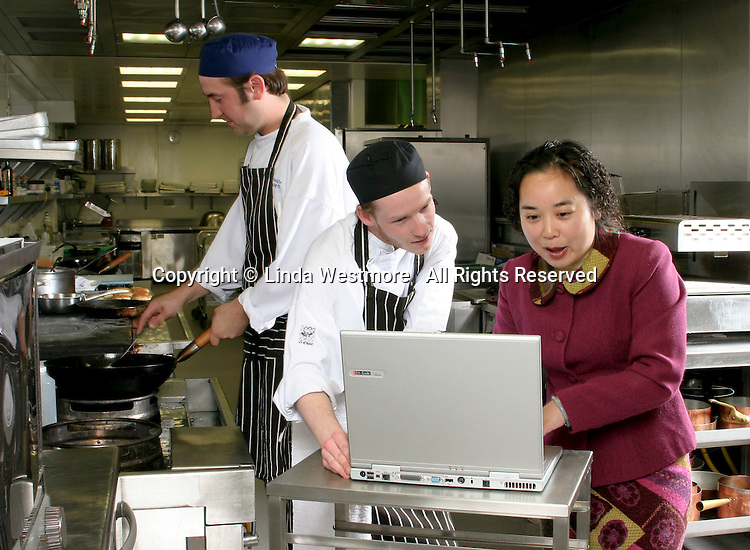 Hotel & Management student on work placement in London hotel working with the chefs to design new menus.