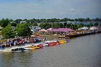 Heat race start F1 class, taken with a tilt/shift lens..Bay City River Roar, Bay City,Michigan USA.26-2821 June, 2009..©F. Peirce Williams 2009 USA.F.Peirce Williams.photography.ref: RAW (.NEF) File Available