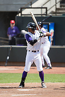 T.J. Williams (4) of the Winston-Salem Dash at bat against the Salem Red Sox at BB&T Ballpark on May 31, 2015 in Winston-Salem, North Carolina.  The Red Sox defeated the Dash 6-5.  (Brian Westerholt/Four Seam Images)