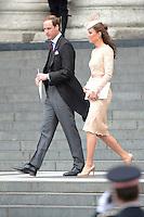 LONDRES, INGLATERRA, 05 DE JUNHO 2012 - JUBILEU DE DIAMANTE DA RAINHA ELIZABETH - O principe William e a princesa Catherine Kate Middeleton Catedral de Sao Paulo durante o Jubileu de Diamante da Rainha Elizabeth em Londres capital do Reino Unido, nesta terça-feira, 05. (FOTO: BILLY CHAPPEL / ALFAQUI / BRAZIL PHOTO PRESS)