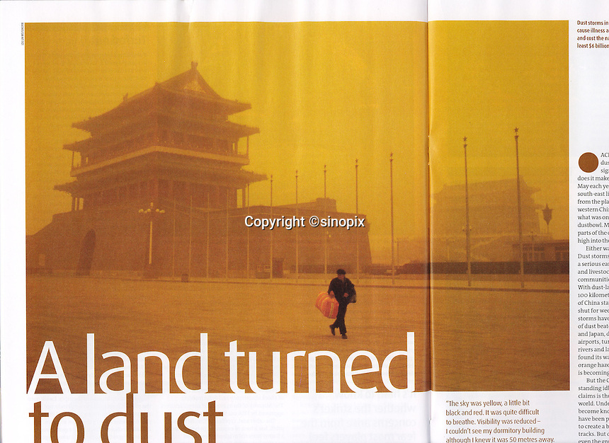 The desert comes to Beijing; in New Scientist by Lou Lin Wei/ Sinopix
