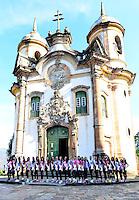 OURO PRETO, MG, 20.09.2013 - Candidatas ao Miss Brasil 2013 durante visita a cidade historica de Ouro Preto a 100 km de Belo Horizonte. (Foto: Eduardo Tropia / Brazil Photo Press)