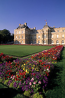 colorful flowers at Luxemburg Palace in Paris France