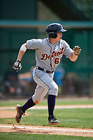 Detroit Tigers Will Savage (69) during a minor league Spring Training game against the Atlanta Braves on March 25, 2017 at ESPN Wide World of Sports Complex in Orlando, Florida.  (Mike Janes/Four Seam Images)