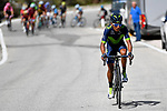 Nairo Quintana (COL) Movistar Team near the end of Stage 18 of the 100th edition of the Giro d'Italia 2017, running 137km from Moena to Ortisei/St. Ulrich, Italy. 25th May 2017.<br /> Picture: LaPresse/Fabio Ferrari | Cyclefile<br /> <br /> <br /> All photos usage must carry mandatory copyright credit (&copy; Cyclefile | LaPresse/Fabio Ferrari)