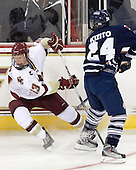 Patrick Brown (BC - 23), Andrew Kizito (Toronto - 24) - The Boston College Eagles defeated the visiting University of Toronto Varsity Blues 8-0 in an exhibition game on Sunday afternoon, October 3, 2010, at Conte Forum in Chestnut Hill, MA.