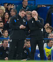Everton Caretaker Manager David Unsworth writes notes during the Carabao Cup round of 16 match between Chelsea and Everton at Stamford Bridge, London, England on 25 October 2017. Photo by Andy Rowland.