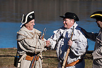 Revolutionary War Reenactors, George Washington's Continental Army, Washington Crossing State Park, New Jersey