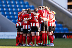 Sheffield United players huddle during the The FA Women's Championship match at the Proact Stadium, Chesterfield. Picture date: 12th January 2020. Picture credit should read: James Wilson/Sportimage