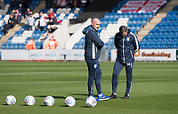 John McGreal, Head Coach of Colchester United looks on pre match during Colchester United vs Stevenage, Sky Bet EFL League 2 Football at the JobServe Community Stadium on 5th October 2019