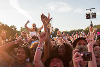 The Crowd during David Guetta's performance during The New Look Wireless Music Festival at Finsbury Park, London, England on Sunday 05 July 2015. Photo by Andy Rowland.