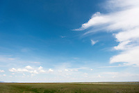 Clouds sweep across the sky at the American Prairie Reserve in central Montana.