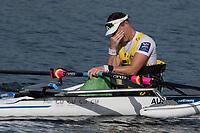 Sarasota. Florida USA.AUS PR M1X.Erik HORRIE, emotional after winning the gold medal. Sunday Final's Day at the  2017 World Rowing Championships, Nathan Benderson Park<br /> <br /> Sunday  01.10.17   <br /> <br /> [Mandatory Credit. Peter SPURRIER/Intersport Images].<br /> <br /> <br /> NIKON CORPORATION -  NIKON D500  lens  VR 500mm f/4G IF-ED mm. 200 ISO 1/1600/sec. f 7.1