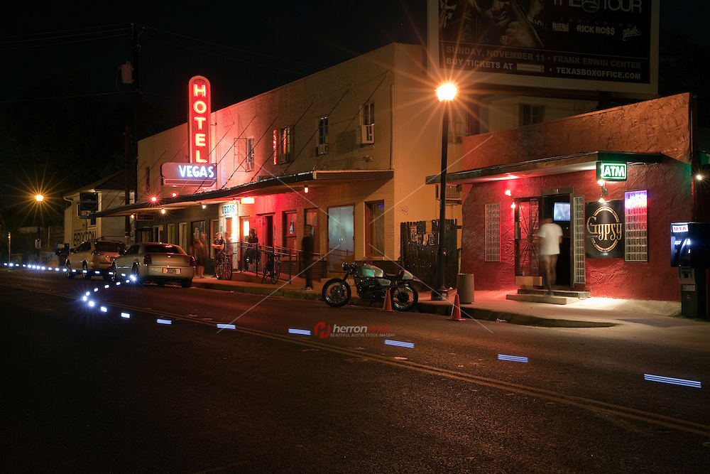 After dark, East Austin's East 6th Street vibrant bar and music scene is hip, happening and real.