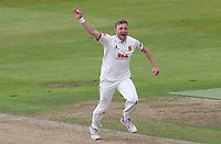 Sam Cook of Essex appeals for a wicket during Warwickshire CCC vs Essex CCC, Specsavers County Championship Division 1 Cricket at Edgbaston Stadium on 10th September 2019
